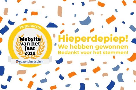 Gezondheidsplein wint Website van het Jaar 2019!